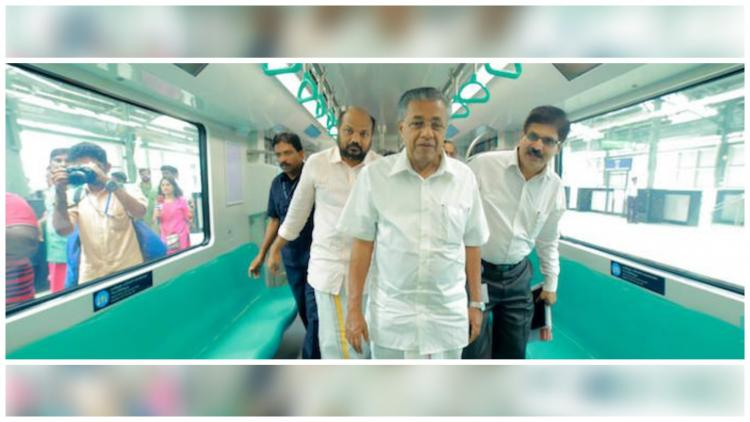 With just 14 days left for its opening Pinarayi Vijayan takes a ride in Kochi Metro