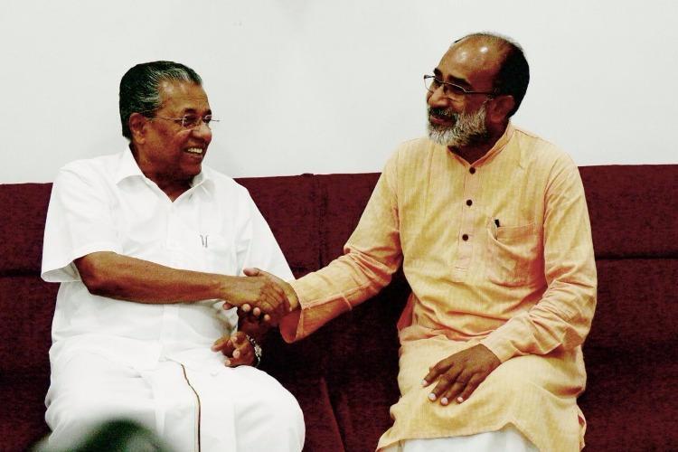 Pinarayi brought me into politics Alphons Kannanthanam meets his former ally