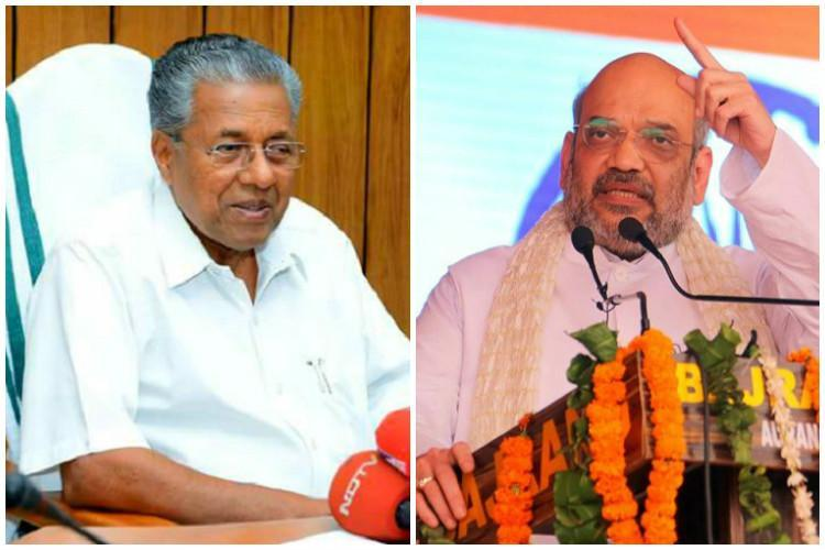 An attack on Constitution not state govt Kerala CM hits back at Amit Shah