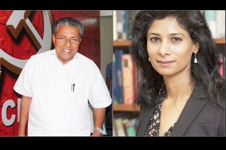 Pinarayi warns opposition not to belittle financial adviser Gita Gopinaths role