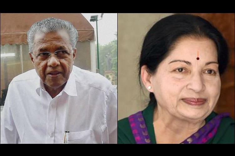 Pinarayi Vijayan wishes Jayalalithaa speedy recovery