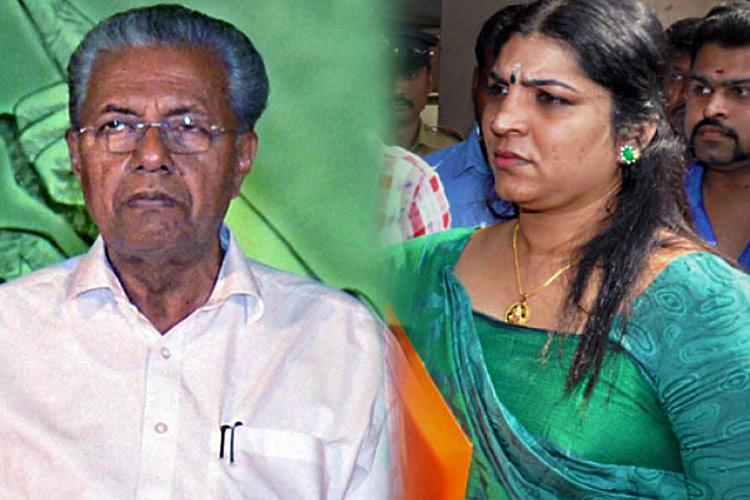 Solar scam Saritha Nair writes to CM Pinarayi Vijayan alleges lapses in probe