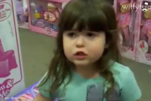 Watch this adorable lil girls spirited dislike for the pink only tag for girly toys