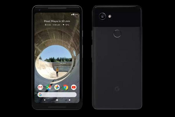 Pixel 2 customer survey appears in the phone's settings menu