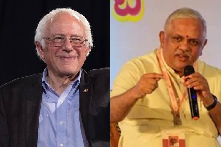 Bernie Sanders tweets on Delhi riots BJP leader threatens India will influence US polls