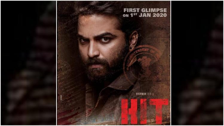 Tollywood hero Vishwaksens HIT movie poster in which he is seen in a fierce look