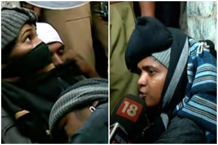 Sabarimala entry Reshma Nishant Shanila Satheesh begin hunger strike