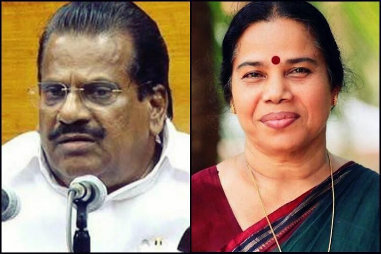 Nepotism row CPI M issues warning to former Kerala minister EP Jayarajan and MP Sreemathy