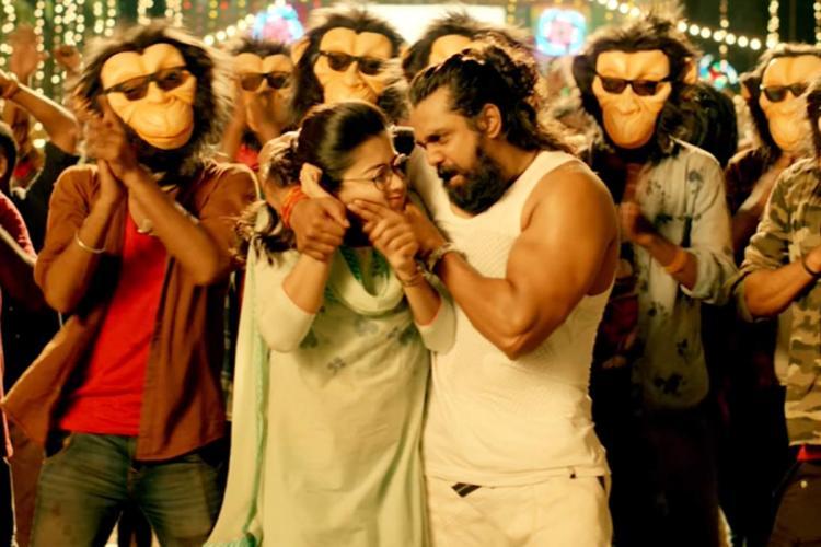 Dhruv Sarja-Rashmikas Karabuu song gets called out for misogyny