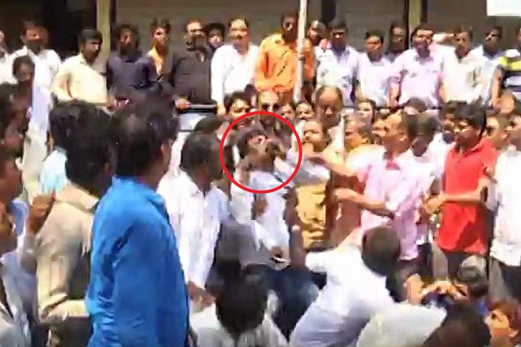 Bijapur BJP worker consumes poison to protest induction of former party member Basavanagouda Yatnal
