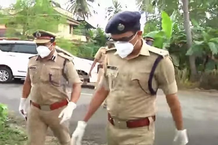 Police official searching for gangsters in Thrissur