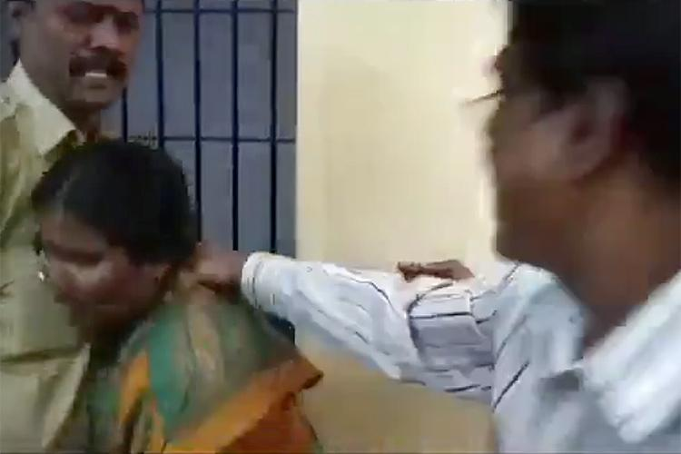 Bengaluru cops caught on camera assaulting woman shoving her out of police station