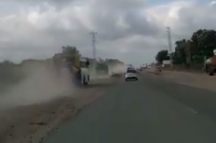 Fast and Furious forever Watch buses racing on Pollachi-Coimbatore highway despite outrage