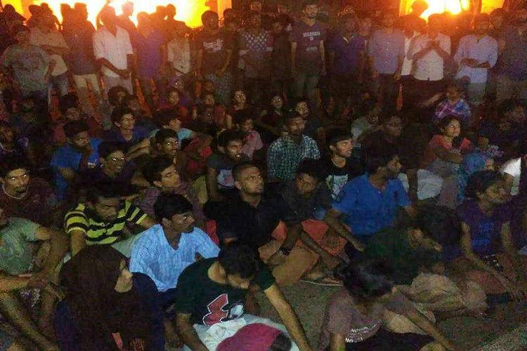 Pondicherry University students protest after alleged attack on students