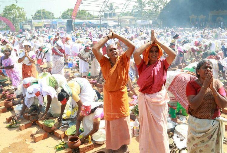Lakhs Of Women Take Part In Attukal Pongala Festival Kerala