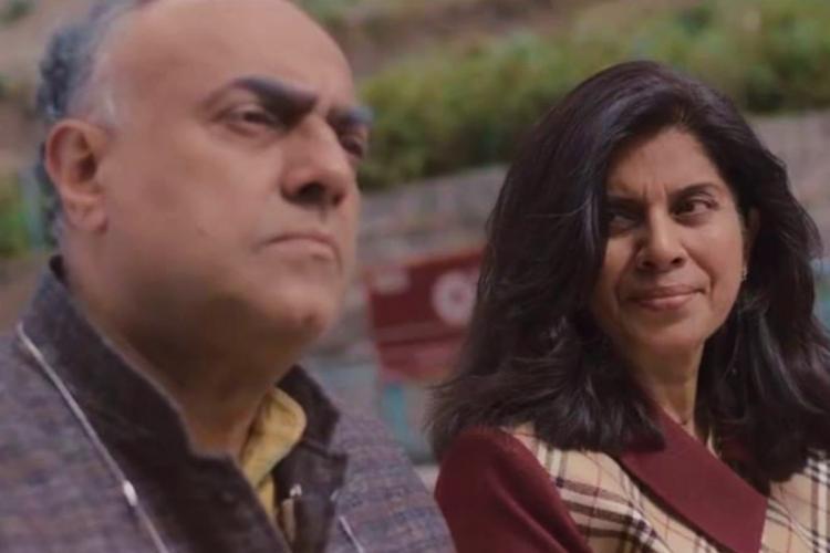 Screengrab of the short film Poonam starring Rajit Kapur and Meeta Vashishta