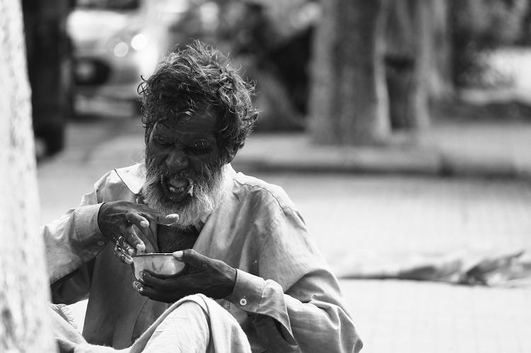 In most Indian states you can be arrested for looking poor