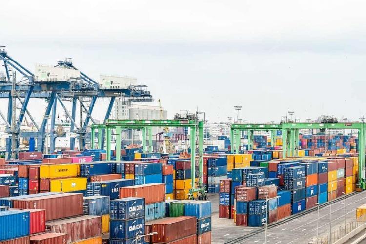 Representative image of a port and cargo