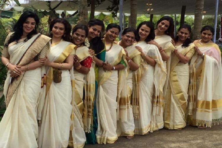 Tabu and Radikaa led a saree-clad posse of South actors