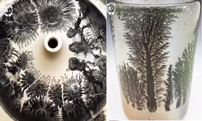 What happens when art meets chemistry Instant mesmerising beauty