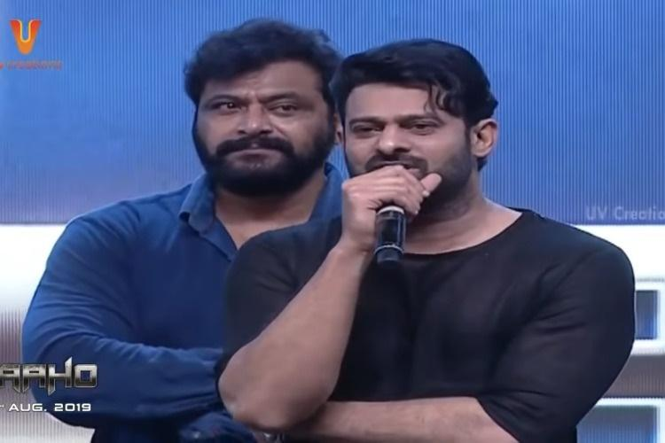 Watch Prabhas speaks to fans at Saaho pre-release event bowls them over