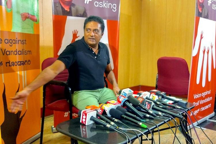 How can an MP stoop so low Prakash Raj sends notice to BJPs Pratap Simha for trolling