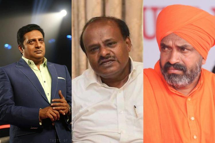 Threat letter names ex-CM HDK actors Prakash Raj and Chetan among 15 people on hit list