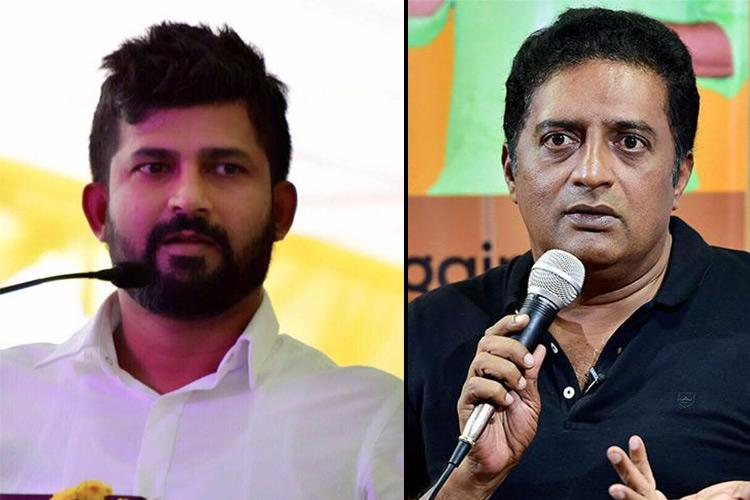 BJP MP Pratap Simha apologises to Prakash Raj for derogatory social media post in 2017