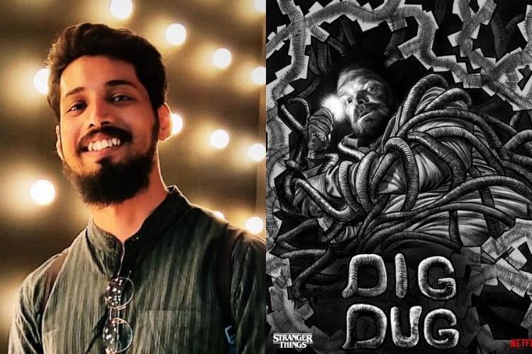 Meet Hyd artist Sri Priyatham Netflix official illustrator for Stranger Things 3 promo