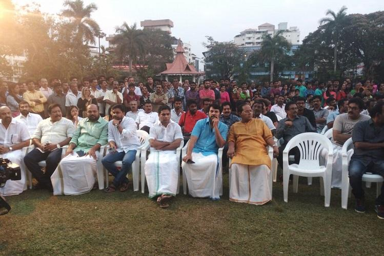 Malayalam actors night of horror Film industry protests in Kochi