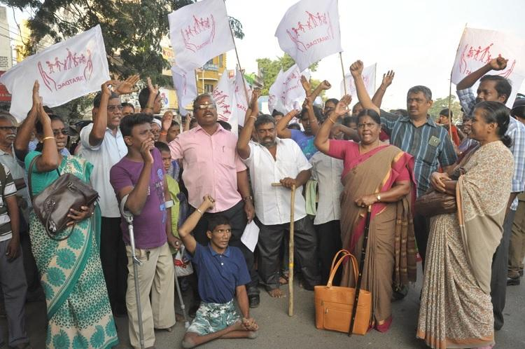 Protests in Dharmapuri over sexual assaults of 2 women 1 minor with disabilities