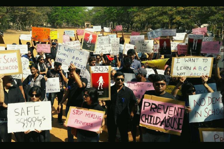 Parents protest in Bengaluru against child sexual abuse at playschool demand swift action