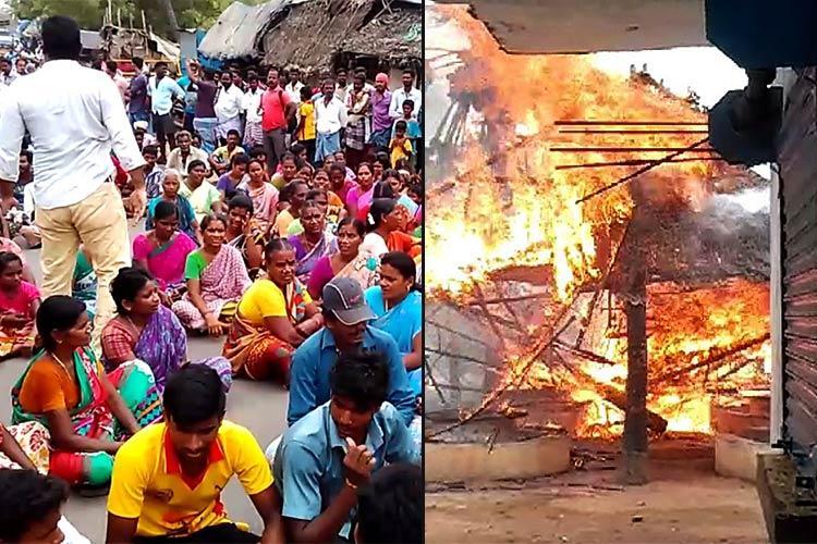 Anti-liquor anger burns in Puducherry village 3 alcohol shops set on fire