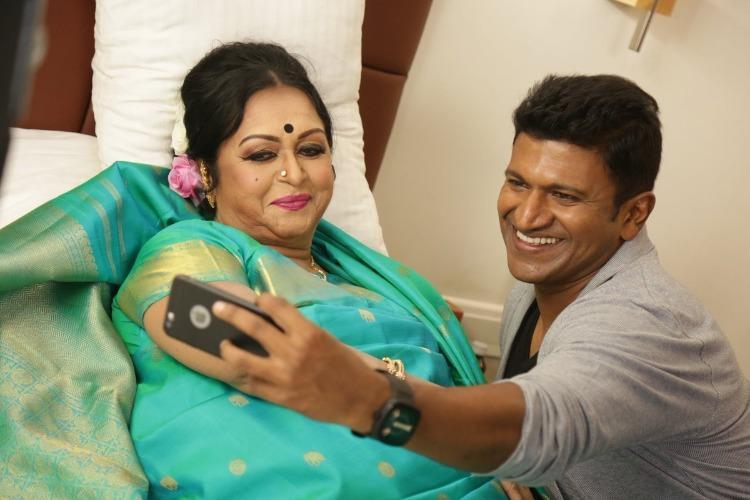 Veteran actor Saroja Devi to do a cameo in Puneeths Natasaarvabhowma