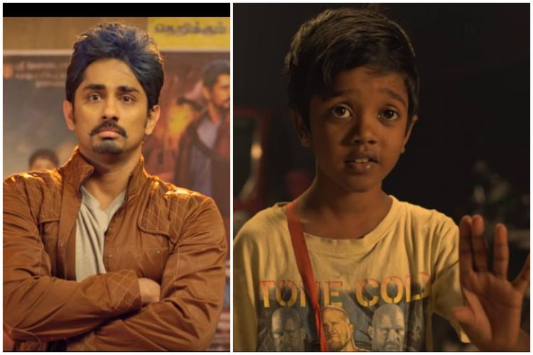What are the 10 elements for a Tamil superhit Watch Siddharth get schooled by a kid