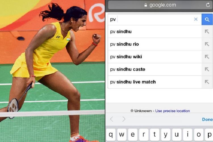 While PV Sindhu fought hard for a medal many Indians googled her caste