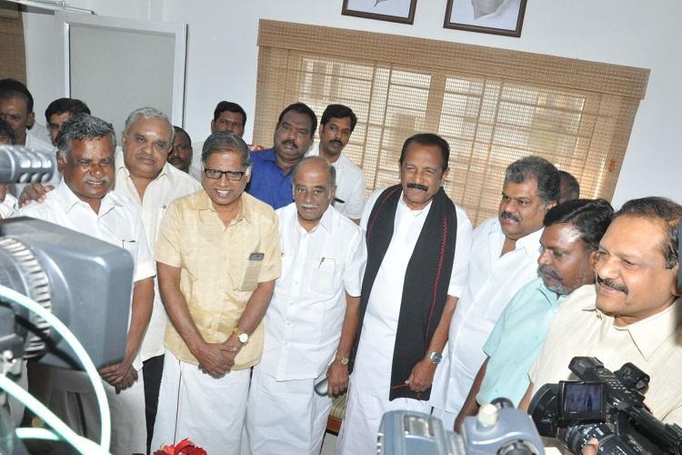 TN Elections PWF leaders meet GK Vasan for alliance talks