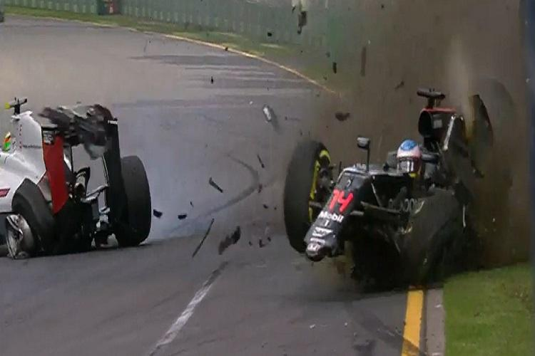 Watch Fernando Alonso walking out of a horrible crash at the Australian GP