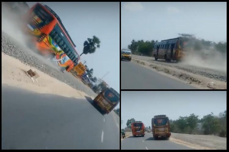 Video Dangerous Fast and Furious bus-race on TN highway angry citizens demand action