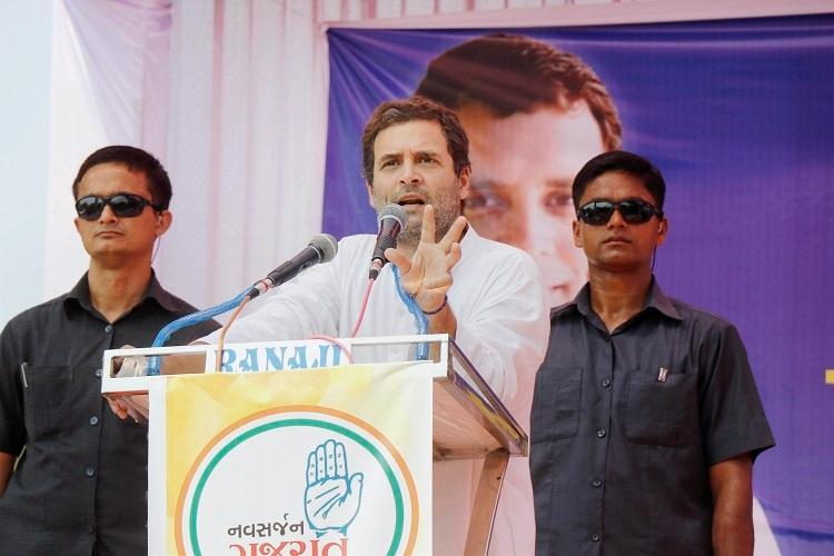 Rahul Gandhi takes a dig at BJP calls GST Gabbar Singh Tax