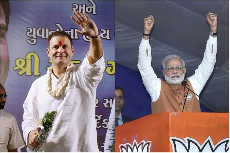 Gujarat election results As leads roll in close fight between BJP and Congress