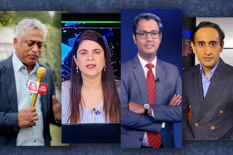 News editors including Rajdeep Sardesai, Sonia Singh, Zakka Jacob and Rahul Kanwal