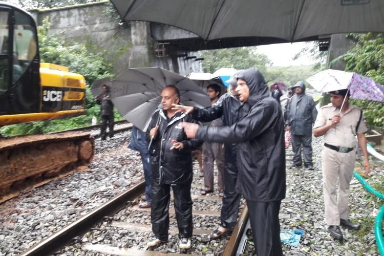 Heavy rains lash north central and coastal Karnataka Full list of trains affected
