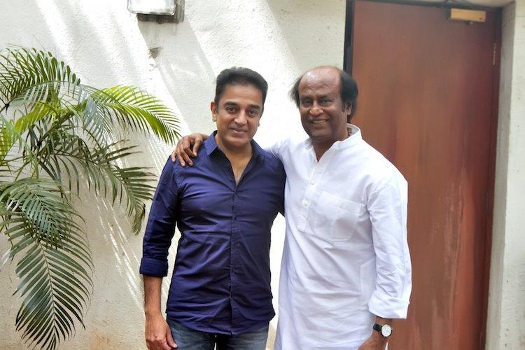 Kamal calls on Rajinikanth in Chennai says it was a friendly meet not political