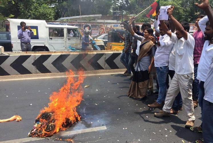 Not Tamizhan Rajinikanth is Kannadiga TN outfit protests actors entry into politics