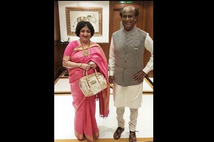 History is made Padma Vibhushan gets the honour of Rajinikanth