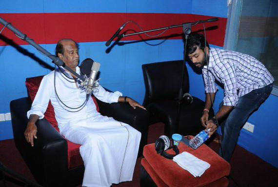 Rajinikanth starts dubbing for Kabali superstar essays role of ageing don