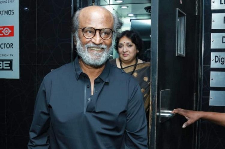 Rajinikanth makes surprise appearance at Shyama Raagam screening