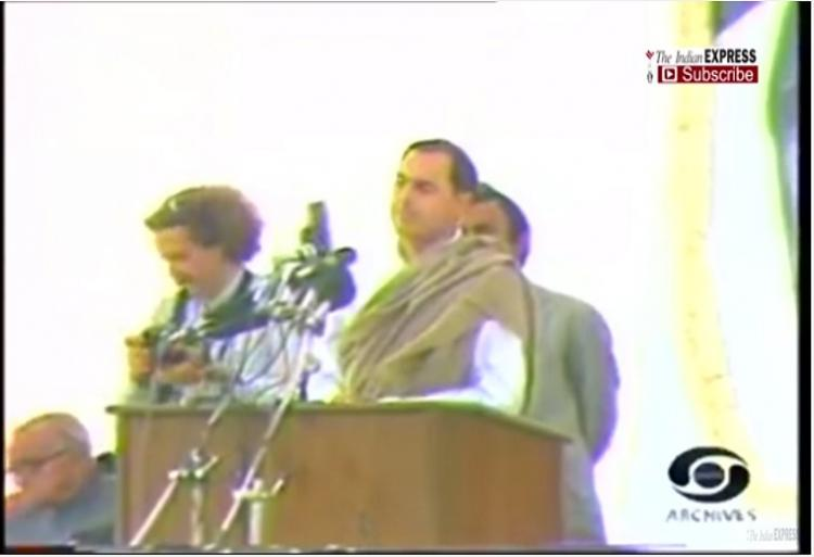 Video Rajiv Gandhi justifies the 1984 Sikh riots with the big tree remark