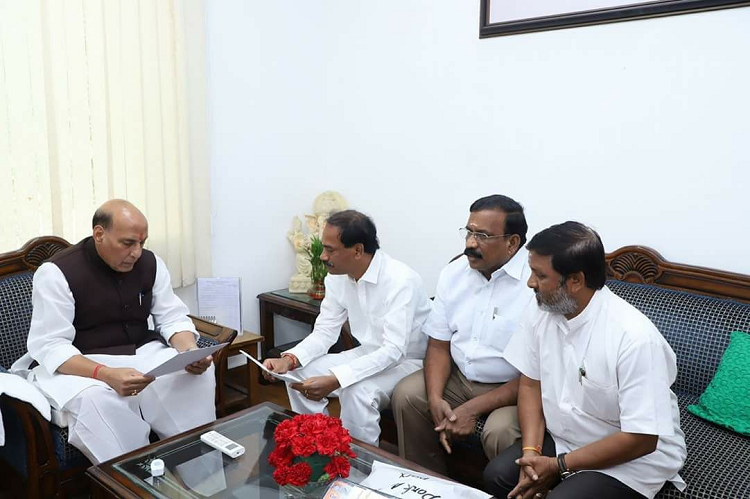 Rajnath Singh has assured us support against Cong govts actions Puducherry MLAs to TNM